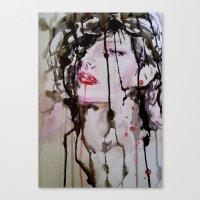noir Canvas Prints featuring Noir by Lulicue