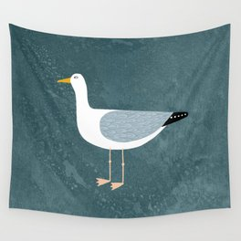 Seagull Standing Wall Tapestry