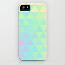 Holographic geometric vector background. 80s and 90s fashion design iPhone Case