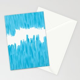 Sea of Blue Painted Stationery Cards