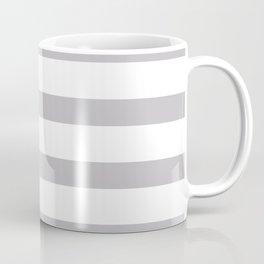 Silver Gray Stripes on White Background Coffee Mug