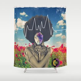 Afro Heartbeat Shower Curtain