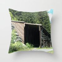 john snow Throw Pillows featuring Snow Shed by NoelleB