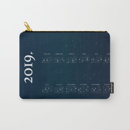 2019 Moon Phases Calendar Carry-All Pouch
