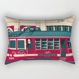 MELBOURNE AUSTRALIA Retro Travel Poster City Illustration Rectangular Pillow
