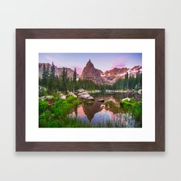 Lone Eagle Peak Framed Art Print