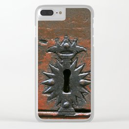 Antique Keyhole Clear iPhone Case