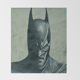 Caped Crusader  Throw Blanket
