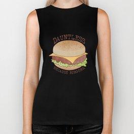 Dauntless - Because Burgers Biker Tank