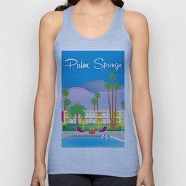 Palm Springs, California - Skyline Illustration by Loose Petals Unisex Tank Top