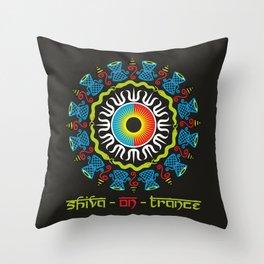 Shiva On Trance Throw Pillow