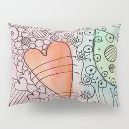 Puzzled Hearts Pillow Sham