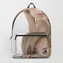 9360-KMA Brown Eyed Girl Nude on Mirror Backpack
