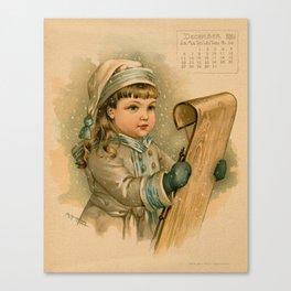 Canadian Girl Maud Humphrey Canvas Print