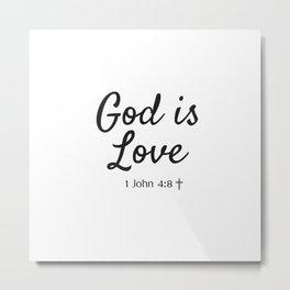 God is Love - Religious Art Metal Print