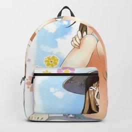Cute Hentai Girl Upskirt Eating Ice Cream Ultra HD Backpack