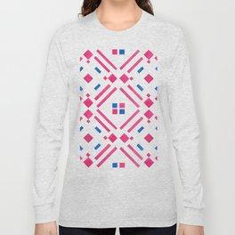 Modern hand painted geometrical pink blue watercolor Long Sleeve T-shirt