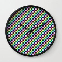 Regular Polygons on Chessboard 36x36 Wall Clock