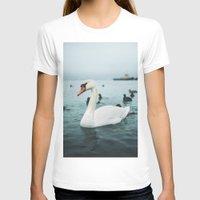 swan T-shirts featuring Swan by Sputnik Mir
