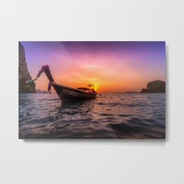 Longtail Sunset Metal Print