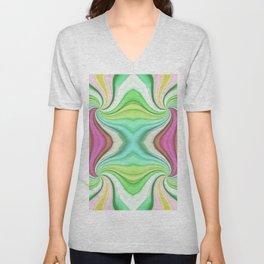 334 - Abstract Paper Design Unisex V-Neck