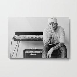 Mac Miller, American Rap Wall Art. Hip Hop Artist Print. Modern Poster. Home Decor Metal Print