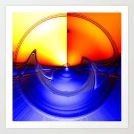 sub sonic waves Art Print