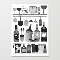 bar Canvas Prints featuring Bar by Kata