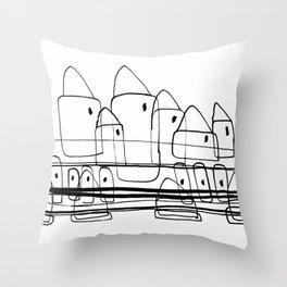 Little Village for Kids Throw Pillow