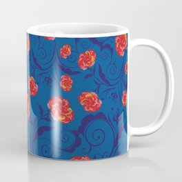 Abstract Rainbow Roses Coffee Mug