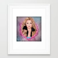 britney Framed Art Prints featuring Britney Spears by Will Costa