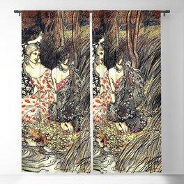 The Flowery Naiades By Arthur Rackham Blackout Curtain