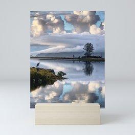 Blue Heron on Tillamook Bay Mini Art Print