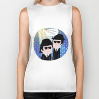 blues brothers Biker Tanks featuring The Blues Brothers by my panda suit by la Lena