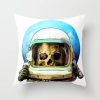 dead space Throw Pillows featuring Dead Space by Ryan Huddle House of H