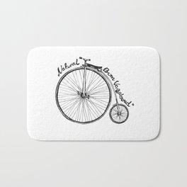Vintage bicycle | Natural Born Vagabond™ Bath Mat