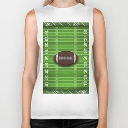 Football Field with Yard Lines and Football Biker Tank