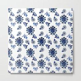 Spanish Florals Metal Print