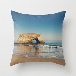 Natural Bridges State Beach ... Throw Pillow