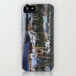 Fishing Boats in the harbour Howth Dublin iPhone Case