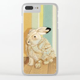 Arctic Hare In The Playroom Clear iPhone Case