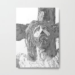 SOLARIZED CRUCIFIX Metal Print