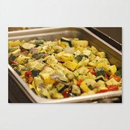 Steamed Vegetables Canvas Print