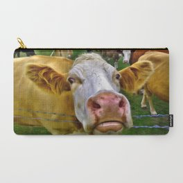 There's one in every crowd . . . Cow Photobomber Carry-All Pouch