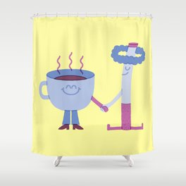 SBF: Coffee & Cigarette Shower Curtain