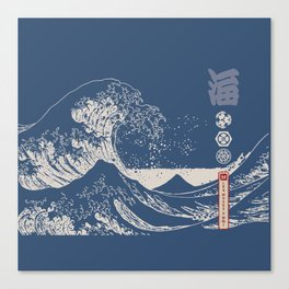 Hokusai - Big Wave of Kinagawa Canvas Print