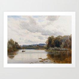 Alfred de Bréanski - Penton Hook on the Thames (1880s) Art Print