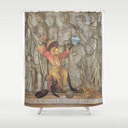 Knock It Off Shower Curtain