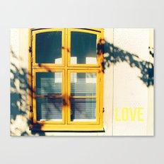 Love Window Canvas Print