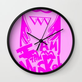 I AM THE MUSKET - PINK Wall Clock